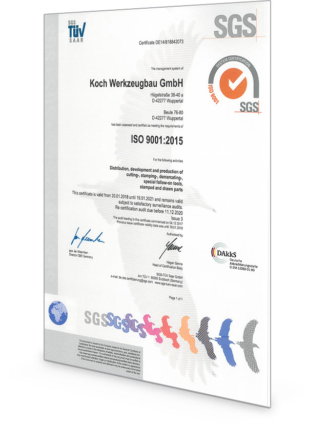 Koch Zertifikat